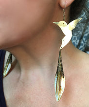 Hummingbird shell chandelier earrings - Nora Catherine