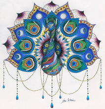 Peacock Mandala Wall Clock - Nora Catherine