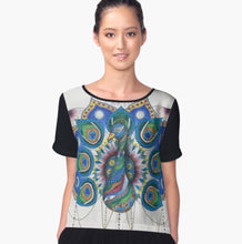 Peacock Mandala Chiffon Art Top - Nora Catherine