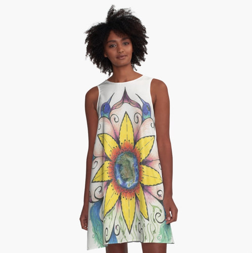 A-line Art Dress Symphony of Summer - Nora Catherine
