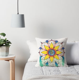 Symphony of Summer throw pillow - Nora Catherine
