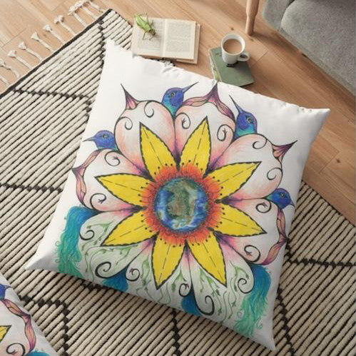 Symphony of Summer Floor Pillow - Nora Catherine