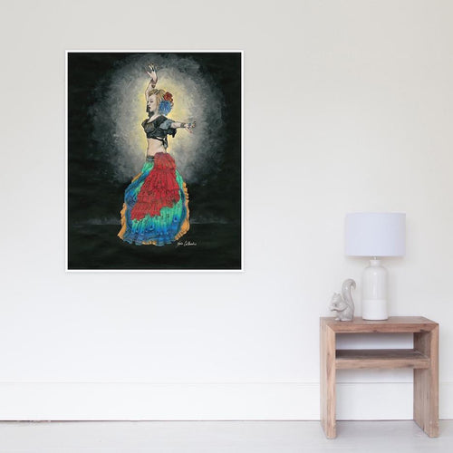 ATS Tribal Belly Dancer Poster - Nora Catherine
