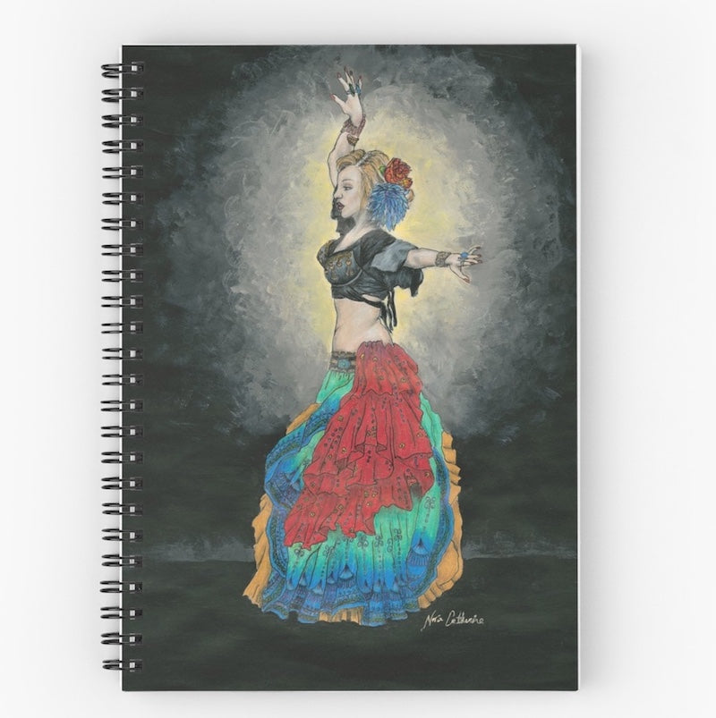 Tribal Belly Dancer Spiral Notebook - Nora Catherine