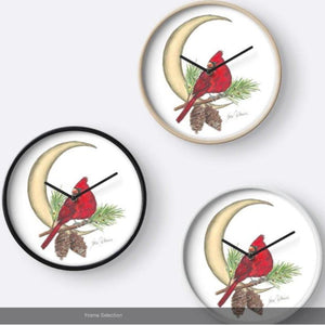 Cardinal Moon wall clock - Nora Catherine