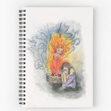 She is Fire Goddess Spiral Notebook - Nora Catherine