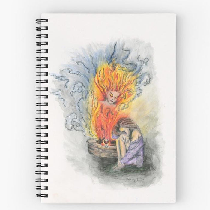 She Is Fire spiral notebook
