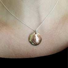Eclipse Moon pendant on Sterling Chain - Nora Catherine