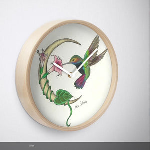 Hummingbird Moon wall clock - Nora Catherine