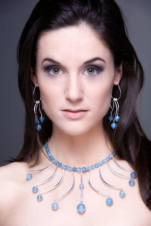 Aqua Goddess collar - Nora Catherine