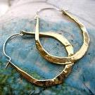 XS light weight drop hoops in copper, bronze or sterling silver - Nora Catherine