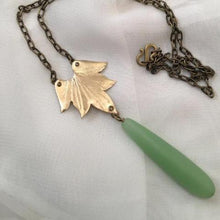Lotus Drop Necklace w/ Seagrass drop - Nora Catherine