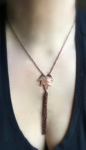 Lotus Blossom Necklace w/ Tassel - Nora Catherine