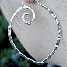 Md Light weight point hoops in copper, bronze or sterling silver - Nora Catherine