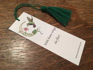 Hummingbird Moon art bookmark - Four Seasons series - Nora Catherine