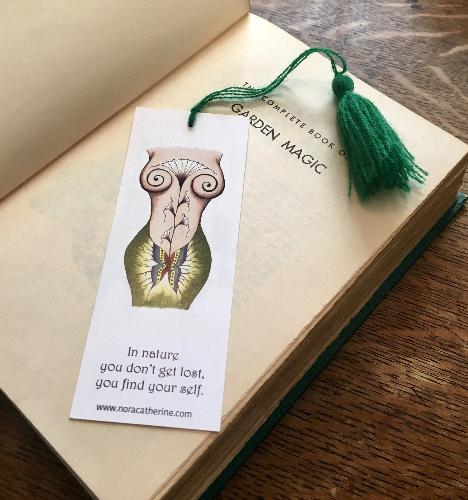 Mother Earth Goddess art bookmark