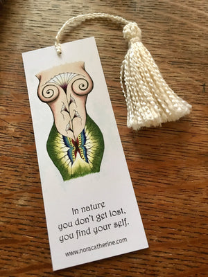 Mother Earth Goddess art bookmark - Nora Catherine