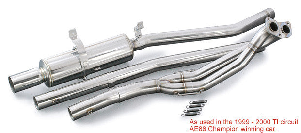 Toyota 4AG (AE86) EX Down Pipe & Muffler System SET for N1 (SUS)
