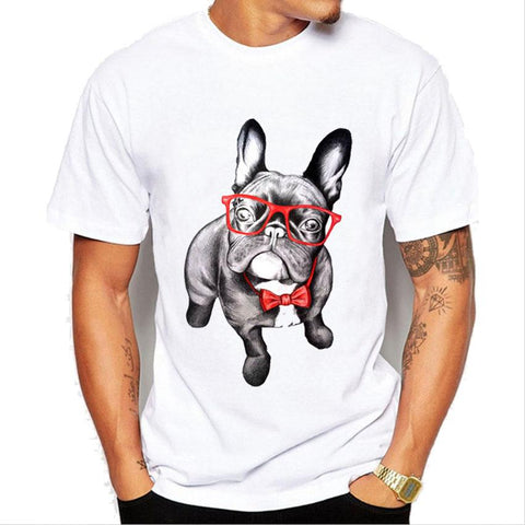 Glasses Pug Dog Funny T Shirt- Dog Lover