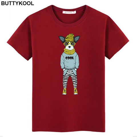 Nerdy stylish Dog T Shirt - Dog Lover