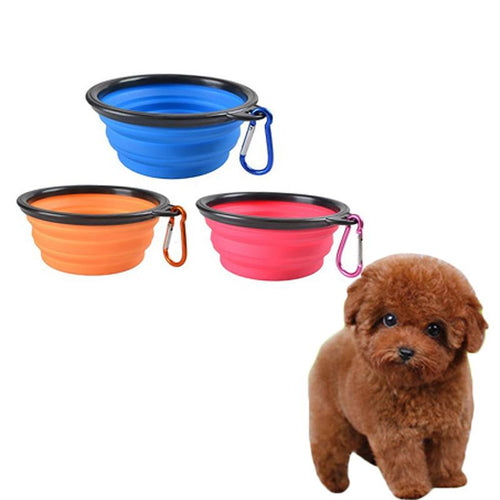 Limited Time only - 3 Pcs Portable Travel Collapsible Silicone Pets Bowl for Free