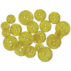 Glitter Yellow Sunshine Buttons Favorite Findings