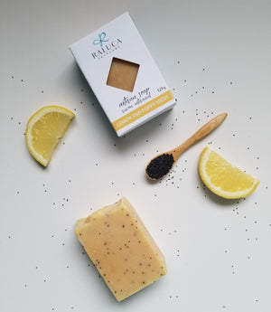 Lemon and Poppy Seeds - Artisan soap