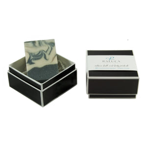 Raluca Skincare - Tuxedo - Artisan soap set - Charcoal and tea tree oil