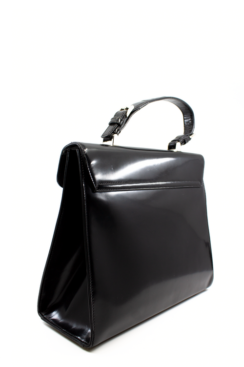 PRADA Patent Leather Bag Kelly Style