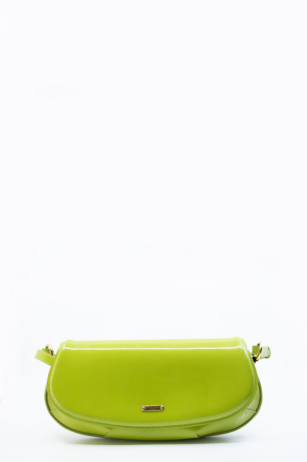 Burberry Prorsum Crossbody Lilford Patent Leather Bag in grün.