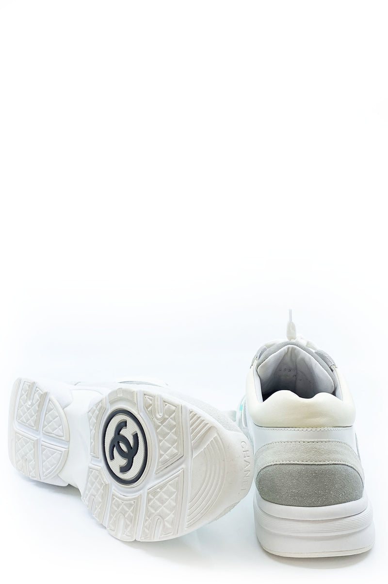 CHANEL Tennis Sneakers White