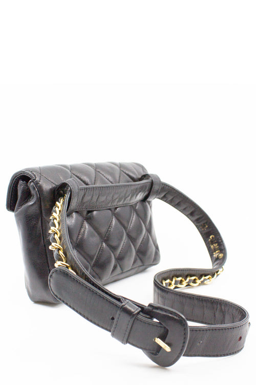 CHANEL Vintage Belt Bag Black Grande