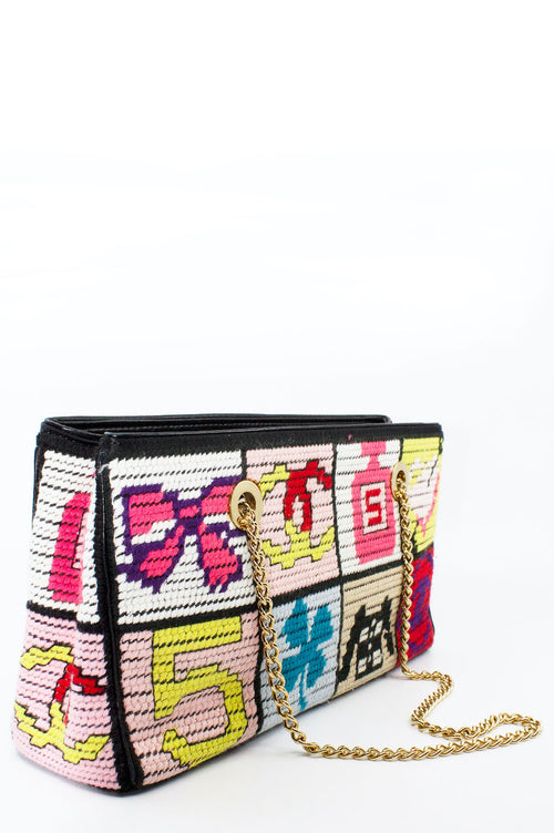 CHANEL Tote Strick Patchwork