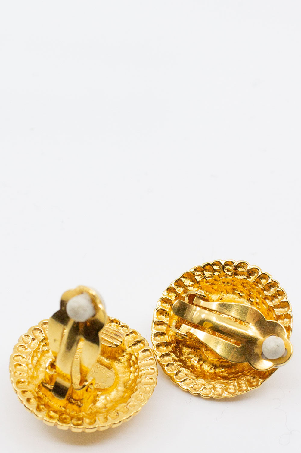 CHANEL Pearl Clip Earrings