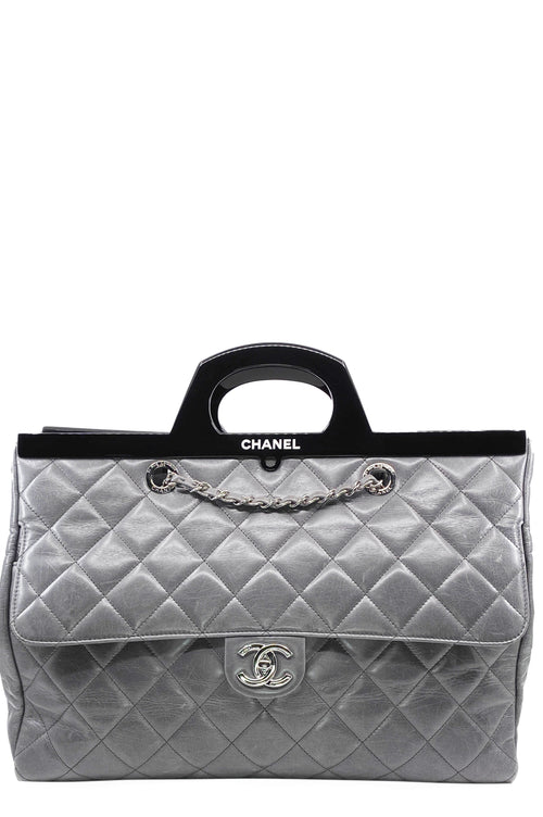 CHANEL Delivery Bag Grey Large