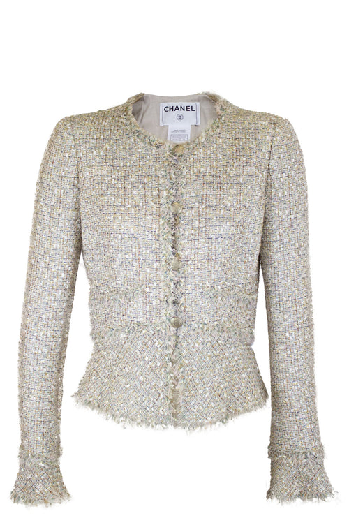 CHANEL Sparkle Fantasy Tweed Jacket Frontalansicht