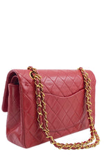 CHANEL Vintage Double Flap Bag Medium Red