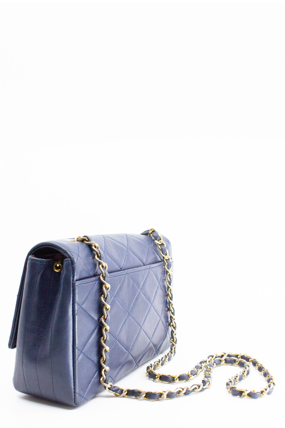 CHANEL Vintage Flap Bag Dark Blue