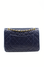 CHANEL Coco Double Flap Bag Night Blue