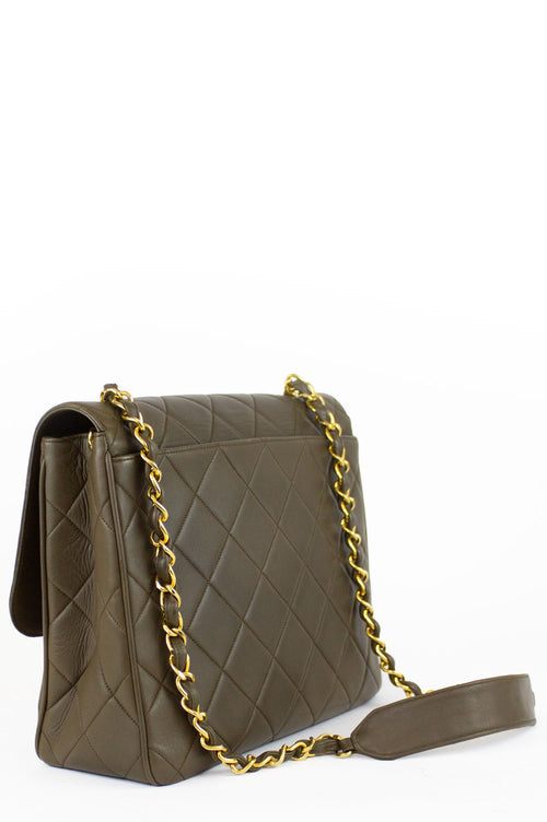 CHANEL Vintage Bag Square Khaki