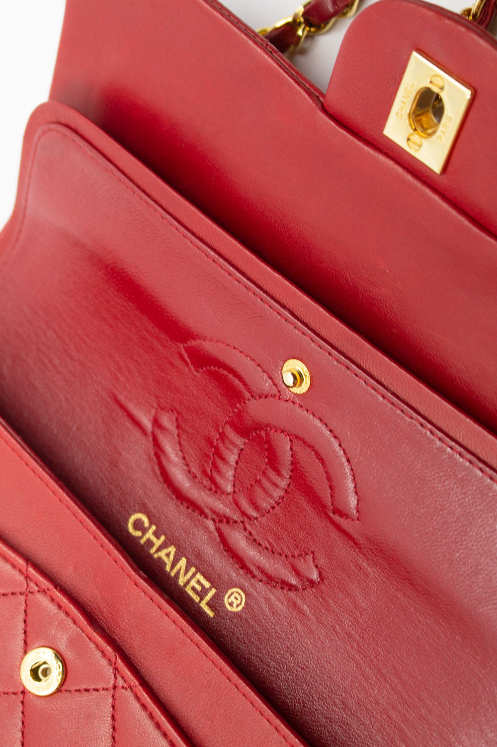CHANEL Vintage Double Flap Bag Small