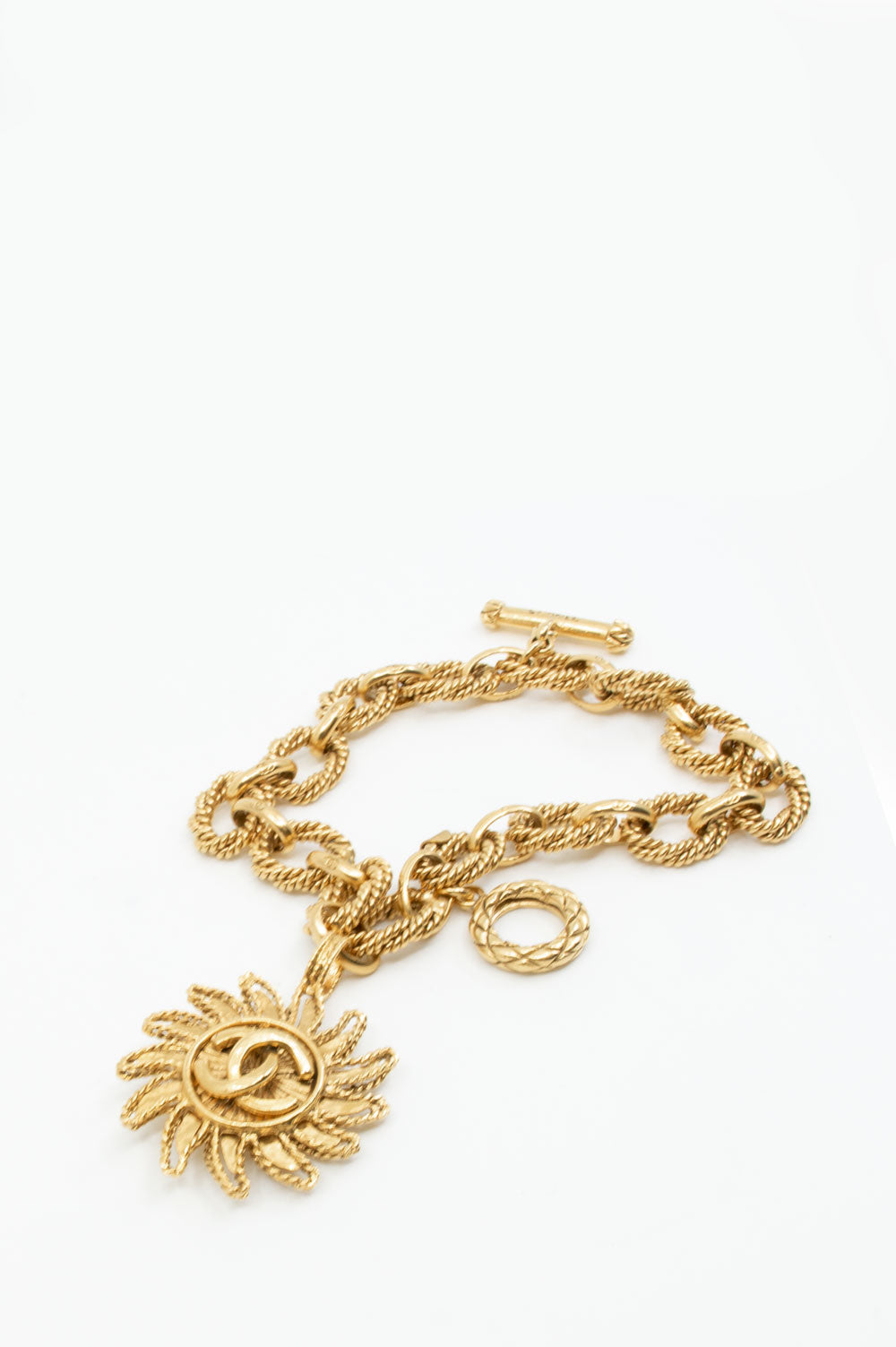 CHANEL Vintage Sun Dangle Bracelet