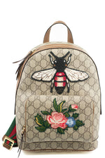 GUCCI GG Supreme Bee Backpack Frontansicht