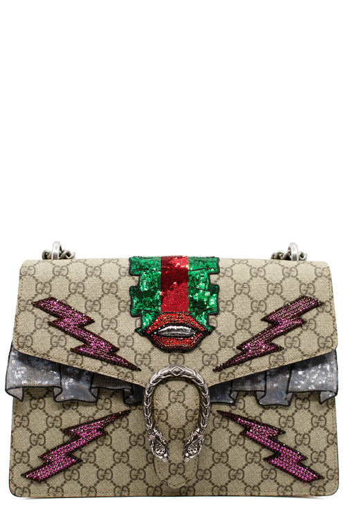GUCCI GG Supreme Medium Sequin Dionysus