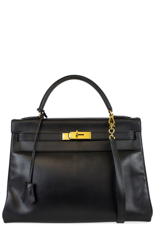 Hermès Kelly Bag 32 Black Calf Leather