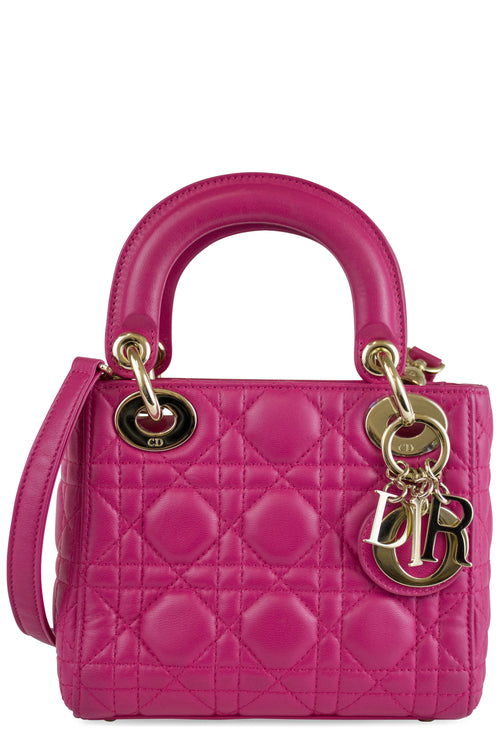 Christian Dior Lady Dior Mini Bag Pink Frontalansicht