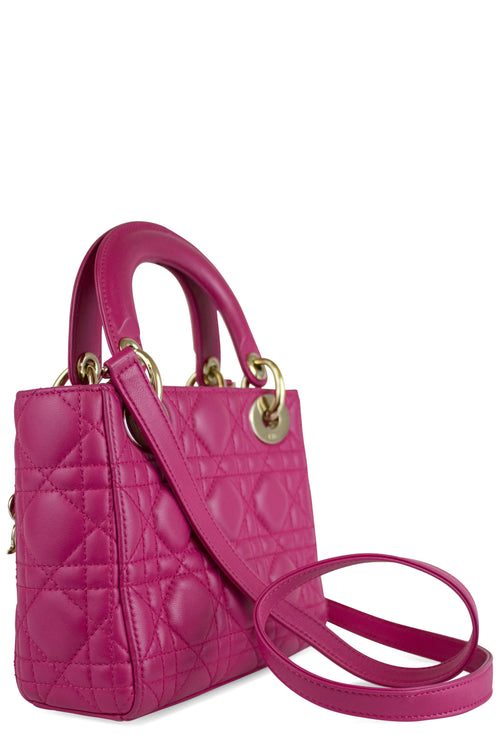 CHRISTIAN DIOR Lady Dior Mini Pink
