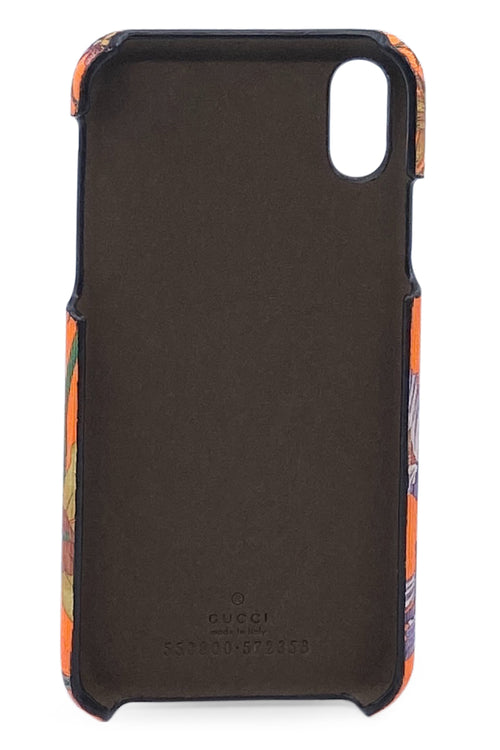 GUCCI iPhone Case X/XS Neon Orange mit Blütenprint