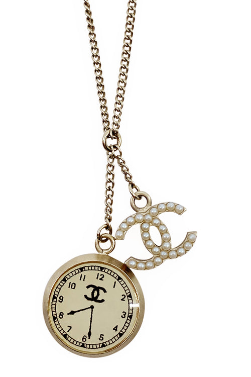 CHANEL Necklace Clock