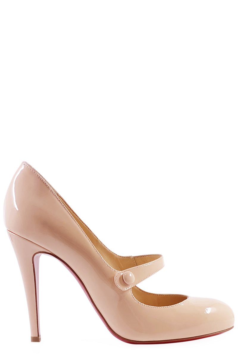 CHRISTIAN LOUBOUTIN Mary Jane Rose Seitenansicht